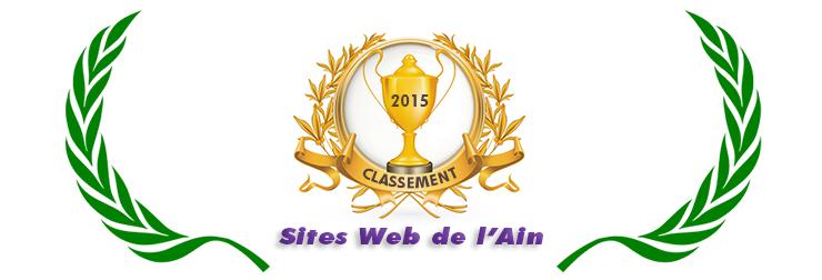 Image illustrant le palmarès 2015 des meilleurs sites Web de l'Ain
