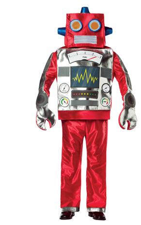 Un homme robot rouge. Il connait le SEO