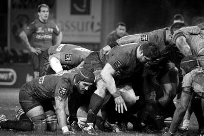 Mêlée de l'USO Rugby