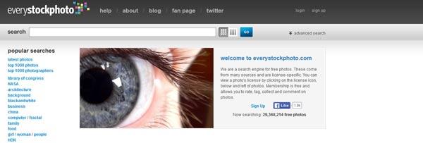 Every Stock Photo une banques d'images grautuites libres de droits soutenu par des institutions gouvernementales