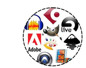 Différents logiciels pour votre formation multimédia
