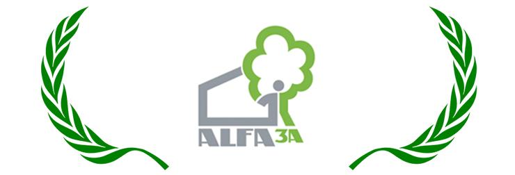 Logo d'ALFA3A, association d'entraide du 01