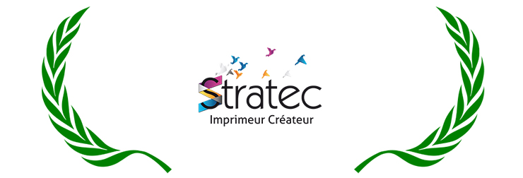 Logo de Stratec, entreprise d'impression du 01