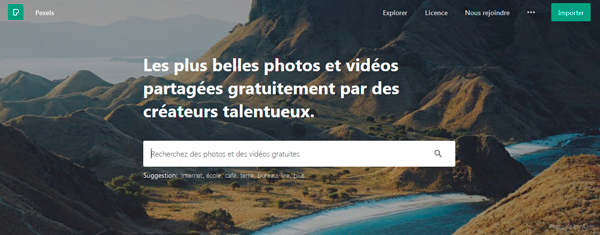 image du site Web pexels