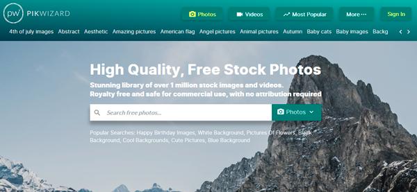Pikwizard un site d'image gratuite puissant